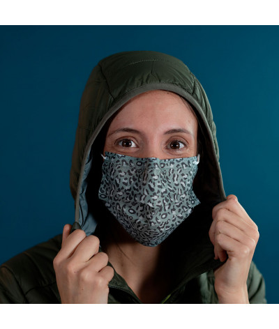 Masque Fantask en tissus lavable made in france - Coloris Irbis portée