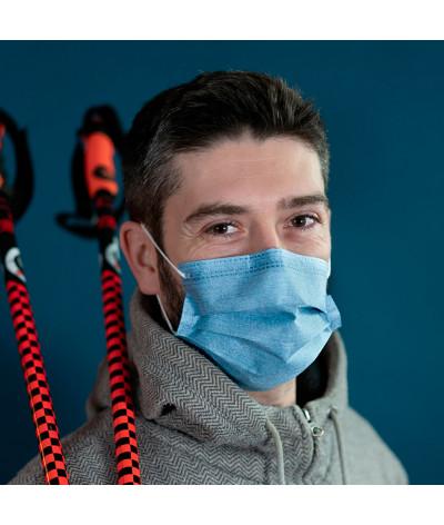 Masque Fantask en tissus lavable made in france - Coloris Glacial portée