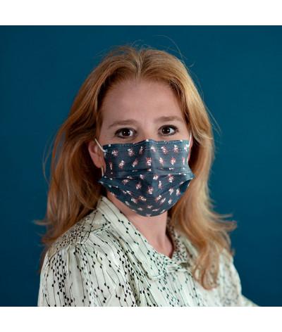 Masque Fantask en tissus lavable made in france - Coloris Féerie portée