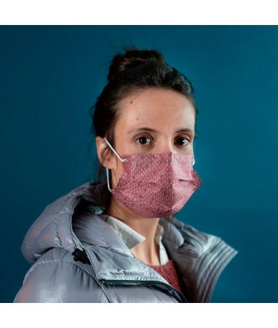 Masque Fantask en tissus lavable made in france - Coloris Bruine portée