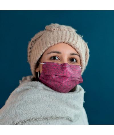 Fantask masque tissus lavable made in france - Coloris Plaid portée