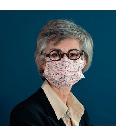 Fantask masque tissus lavable made in france - Coloris Présent portée