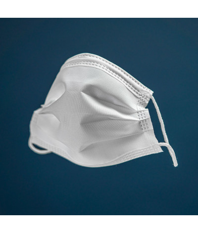 Lib'AirMask masque tissus lavable made in france - Blanc Traité SofiProtect photo