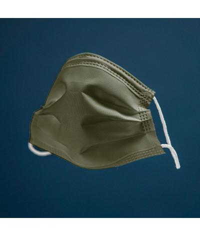 Coffret Terre masque tissus lavable made in france - photo vert kaki