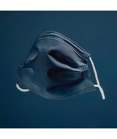 Coffret Mer masque tissus lavable made in france - photo bleu marine