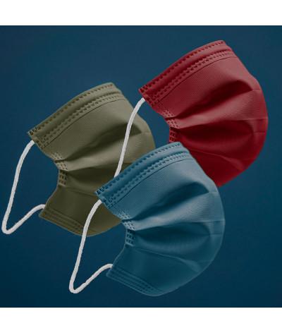 Coffret Terre masque tissus lavable made in france - photo principale
